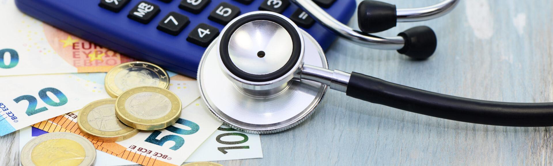 Stetoskop, Rechner, Geld